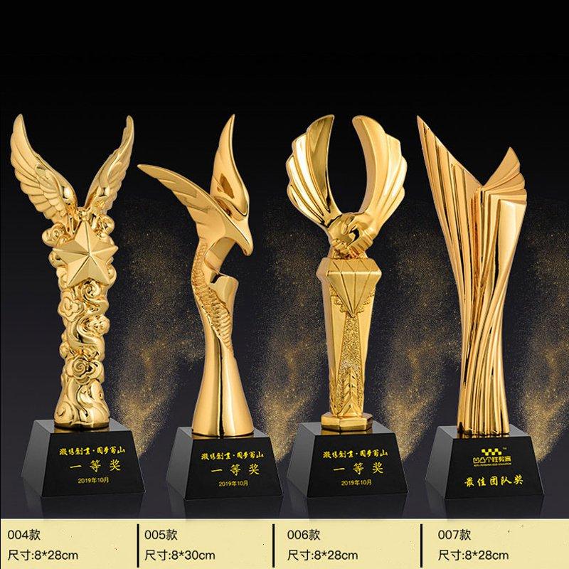 企业年会颁奖几十款树脂水晶奖杯 图五